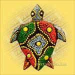 Hűtőmágnes-Teknős/Aboriginal Festéssel